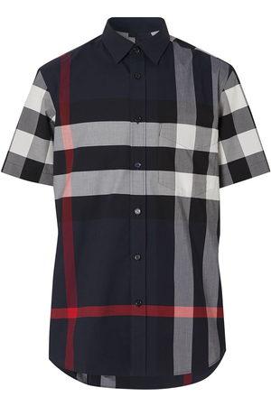 Burberry Men Shirts - Checked shortsleeved shirt