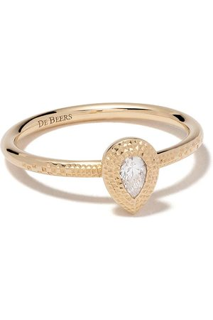 De Beers 18kt Talisman pear-shaped diamond ring