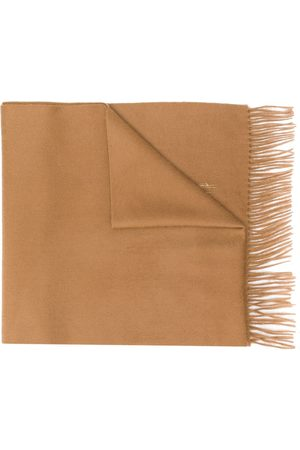 MACKINTOSH Camel Cashmere Embroidered Scarf | ACC-013/E