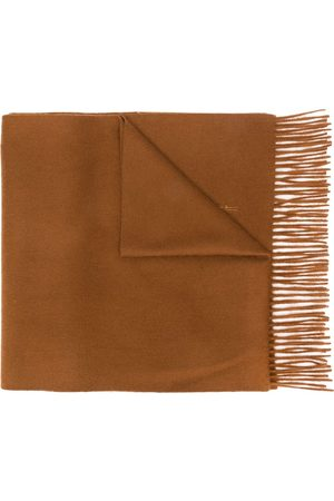 MACKINTOSH Bronze Cashmere Embroidered Scarf | ACC-013/E