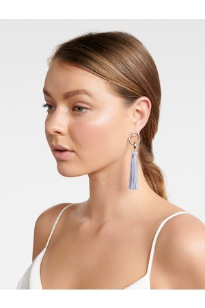 Forever New Nellie Tassel and Circle Drop Earrings