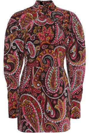 ROTATE Paisley cotton minidress