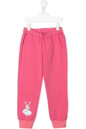 Simonetta Bunny print elasticated track pants
