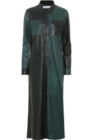 Stand Studio Alte leather midi dress