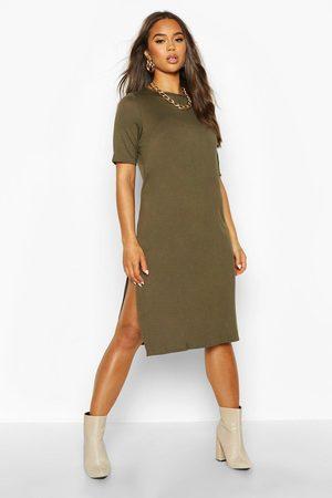 Boohoo Split Midi T-Shirt Dress