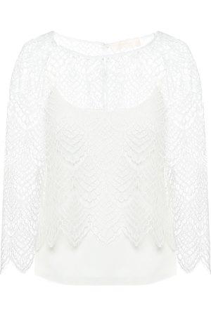Max Mara Ornato rebrodé-lace blouse