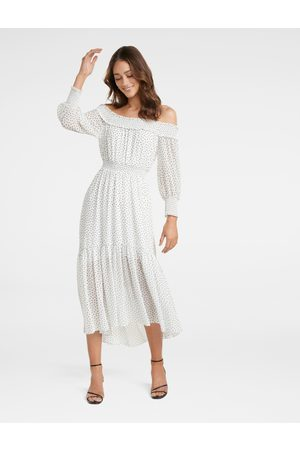 Forever New Annie Ruched Bardot Maxi Dress