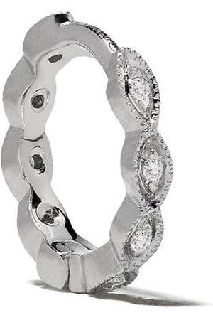 White Bird 18kt diamond Maurine hoop earring