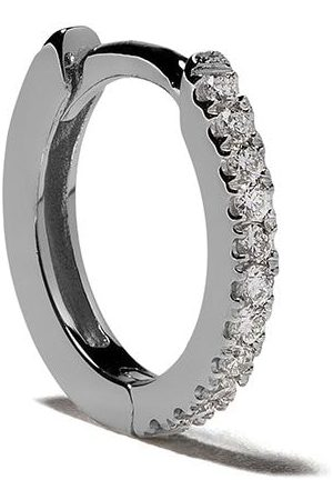 White Bird 18kt diamond Margot hoop earring