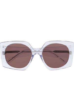 COURRÈGES EYEWEAR Oversized geometric-frame sunglasses