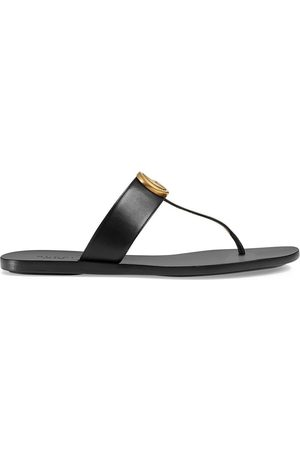 Gucci Women Sandals - Double G leather thong sandals