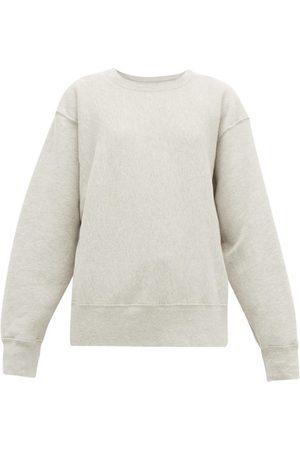Les Tien Crew-neck Brushed-back Cotton Sweatshirt - Womens