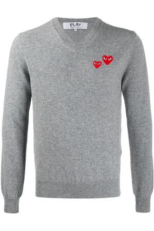 Comme des Garçons Twin-heart sweater