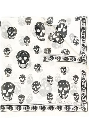 Alexander McQueen All-over skull print scarf