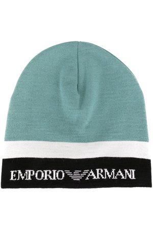 Emporio Armani Colour block knit beanie