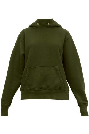 Les Tien Classic Fleece-backed Cotton Hooded Sweatshirt - Womens - Khaki