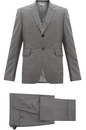 Thom Browne Single-breasted Wool-twill Suit And Tie - Mens