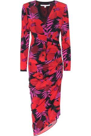 VERONICA BEARD Printed Dresses - Alvaro floral stretch-silk dress