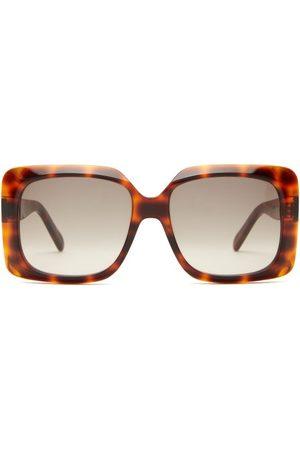 Céline Oversized Tortoiseshell-acetate Sunglasses - Womens - Tortoiseshell