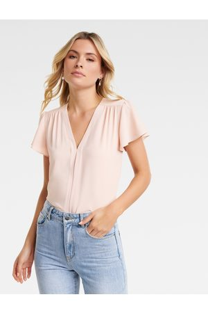 Forever New Elaina Flutter Short Sleeve Top