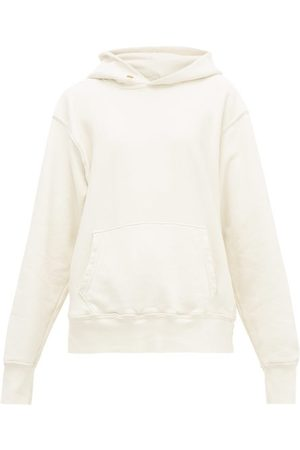 Les Tien Classic Raglan-sleeve Cotton Hooded-sweatshirt - Womens - Ivory