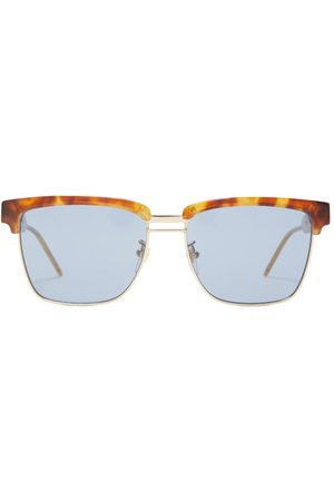 Gucci D-frame Acetate And Metal Sunglasses - Mens - Tortoiseshell