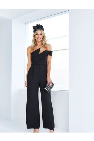 Forever New Women Asymmetrical Dresses - Elora Asymmetric Neckline Jumpsuit