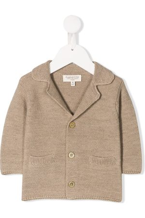 CASHMIRINO Spread collar jacket