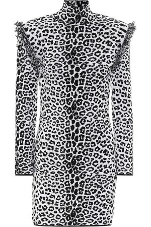 Dundas Leopard-print wool and cashmere dress