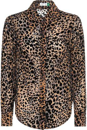RIXO London Andrea silk-blend blouse