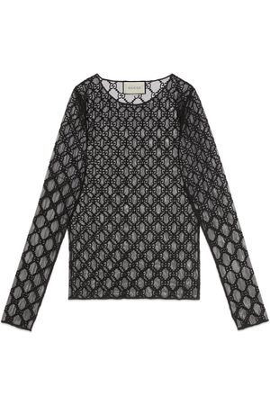 Gucci GG embroidered tulle T-shirt