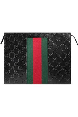 Gucci Men Wallets - Signature Web pouch