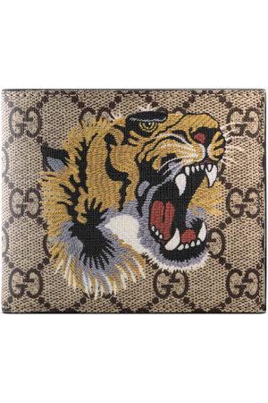 Gucci Men Wallets - Tiger print GG Supreme wallet