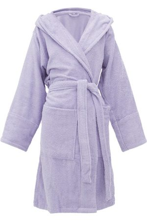 Tekla Hooded Cotton-terry Bathrobe - Womens
