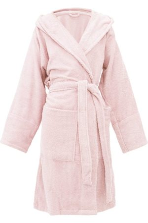 Tekla Hooded Cotton-terry Bathrobe - Womens - Light