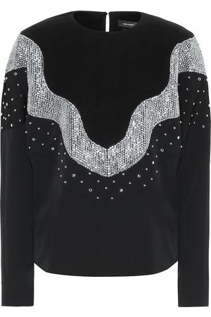 Isabel Marant Valia embellished wool top