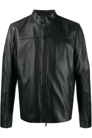 Michael Kors Men Leather Jackets - Zip-front leather jacket
