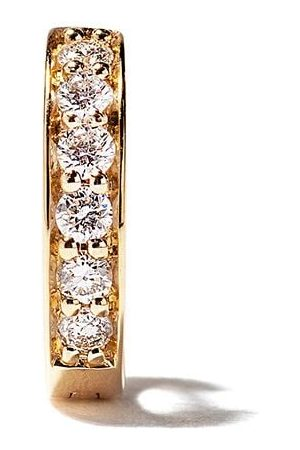 ALINKA 18kt yellow IRINA diamond huggie earring