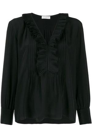 Sandro Women Blouses - Long-sleeved ruffle blouse
