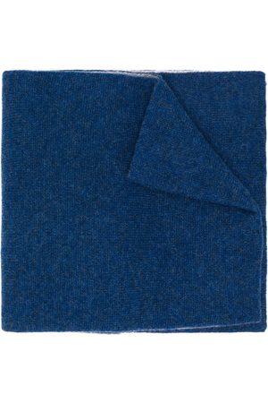 DELL'OGLIO Two-tone cashmere scarf