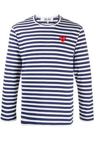 Comme des Garçons Heart appliqué striped T-shirt