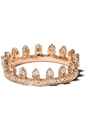 ANNOUSHKA 18kt rose gold Crown diamond ring