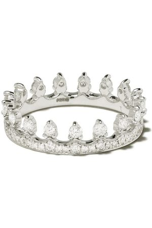 ANNOUSHKA 18kt white gold Crown diamond ring