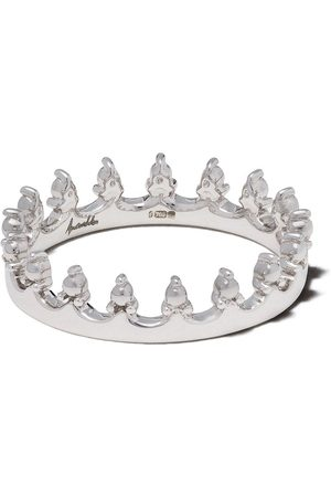 ANNOUSHKA Women Rings - 18kt white gold Crown ring