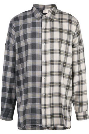 MOSTLY HEARD RARELY SEEN Plaid colour block shirt