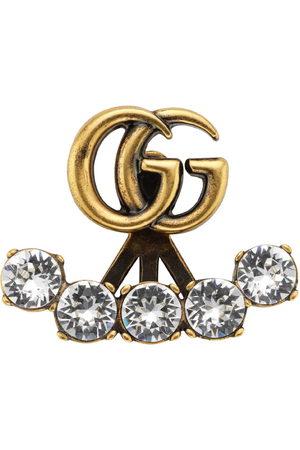 Gucci Women Earrings - Single crystal Double G earring