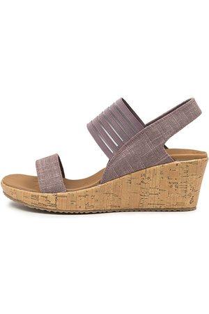 Skechers 38527 Beverlee Smitten Sk Mauve Sandals Womens Shoes Casual Heeled Sandals