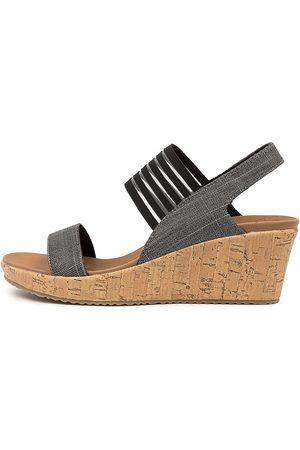 Skechers 38527 Beverlee Smitten Sk Sandals Womens Shoes Casual Heeled Sandals