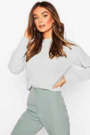 Boohoo Crop Fisherman Sweater
