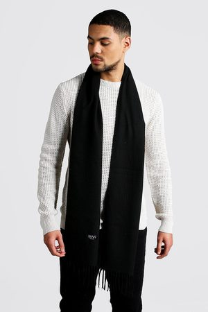 Boohoo Men Scarves - Mens Plain Tassel Scarf